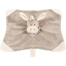 Nattou 211116 Cappuccino - Manta de seguridad para bebé, diseño de burro