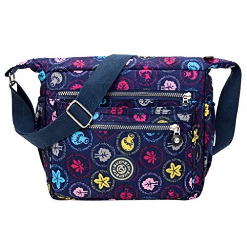 BDToy New Handbag Print Cloth Bag Messenger Bag Fashion Nylon Waterproof Shoulder Bag