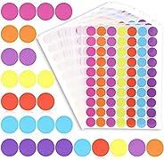 Juvale Color Coding Sticker Dots (1400 Count) 1 Inch, 7 Colors