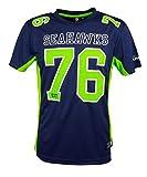 Majestic Seattle Seahawks Moro Est. 76 Mesh Jersey NFL T-Shirt L