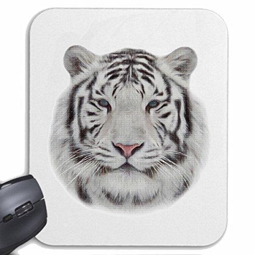 Reifen-Markt Mousepad (Mauspad) WEIßER Tiger Tiger Wildtier Raubkatze Leopard Raubkatze für ihren Laptop, Notebook oder Internet PC (mit Windows Linux usw.) in Weiß