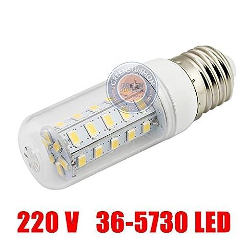 10 pièces,LED Lampes à économie d'énergie Lampe Spirale E27E1436V5730220LED 110V4W ou de maïs ,E27 blanc chaud lampe 220V shell blanc lait