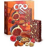 Cro Paleo Bar - Barretta energetica ispirata alla dieta PALEOLITICA - 100% Naturale - 6 Barrette x 40g - Fichi secchi, Datteri, Frutta Secca e Frutti Rossi