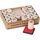 Nature Set - 20 wooden stamps and 1 stamp pad
