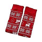 XINAINI Damen Overknee StrüMpfe Socken Retro SchüLer Stricksocken Atmungsaktiver Sport Elastisch Bequem WinterstrüMpfe Weihnachtlich Gestrickte WollstrüMpfe Warm Halten Lange KniestrüMpfe