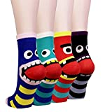 Cansok Damen Socken One size Gr. One size, Striped Tooth Monster