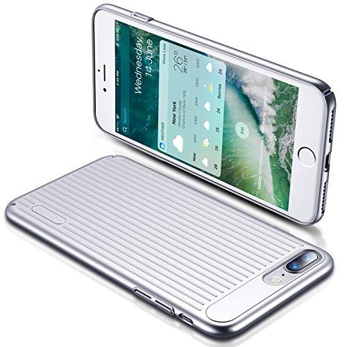 iPhone 7 Plus Hülle, TORRAS [Designer Edition] Slim Dünne Anti-Scratch Anti-Fingerabdruck Hardcase Handyhülle Hochwertigem Case Cover für Apple iPhone 7 Plus - Silber Silber