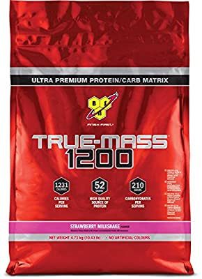 BSN True Mass 1200 Weight Gainer Whey Protein Powder with BCAA's and glutamine. Mass Gainer by BSN by BSN