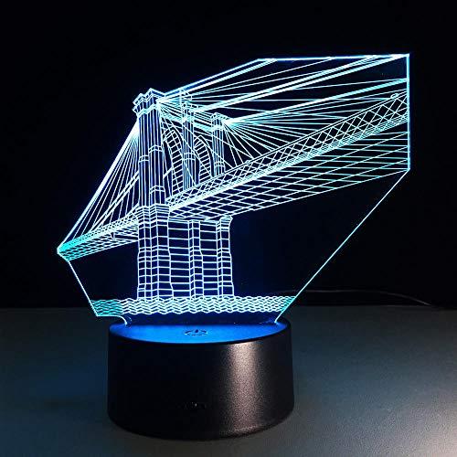 San Francisco Bridge 7 Farben Deco USB Fernbedienung Lampe 3d Visuelle Led Nachtlichter Für Kinder Touch Usb Nachtlicht Lampe