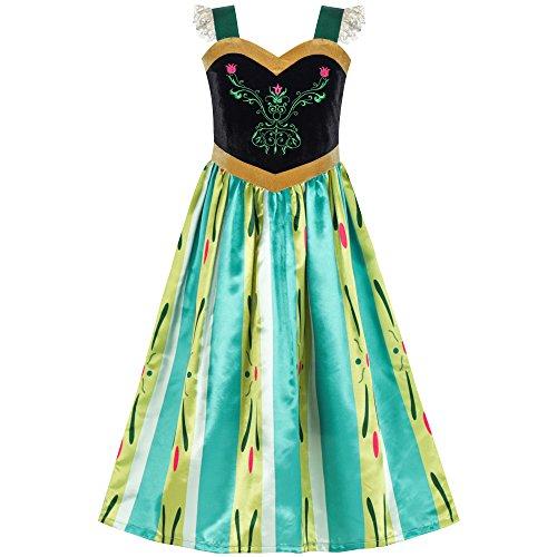 Sunboree Prinzessin kleiden Anna Kostüm kleiden Oben Cosplay -