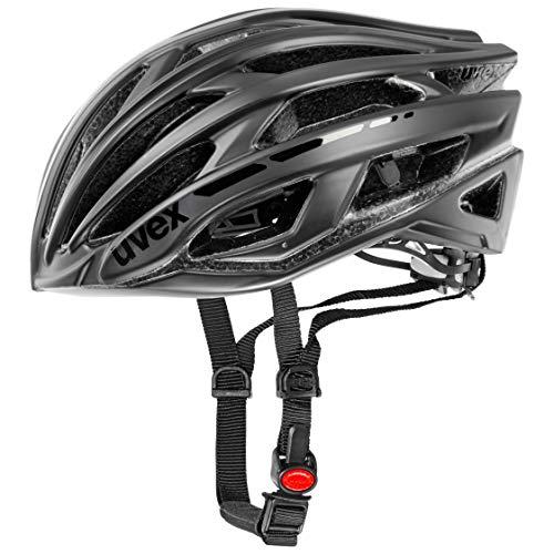 Uvex Unisex- Erwachsene Race 5 Classic Fahrradhelm, Schwarz (black), 55-58cm