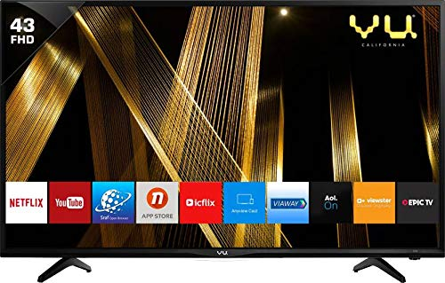 VU 108 cm (43 Inches) Full HD Smart LED TV 43PL (Black) (2019 Model)