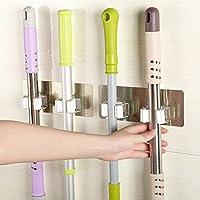 squarex Wand montiert Mop Organizer Halter Bürste Besen Kleiderbügel Aufbewahrung Rack Küche Werkzeug, Sonstige, mehrfarbig, Size:17.8 x 7cm