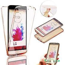 LG K8 Coque Gel TPU Silicone Etui Intégrale Transparent Case pour LG K8 Housse Protection Full Silicone Souple Case, Vandot LG K8 Ultra Mince Fine Slim Leger Tactile Deux Parties Avant Arrière Emboitable Cover