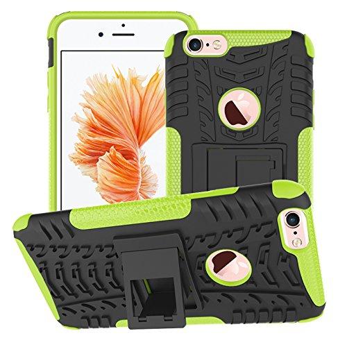BCIT iPhone 6 6S Plus Cover - Alta qualità Doppio Strato ibrido Cellulari Case Custodia protettivo Per iPhone 6 6S Plus - Blu Verde
