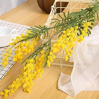 SYN Ramas de Flores Artificiales de Acacia duraderas, para Escritorio, Fiesta, romántico, decoración de Boda, hogar, Falsas