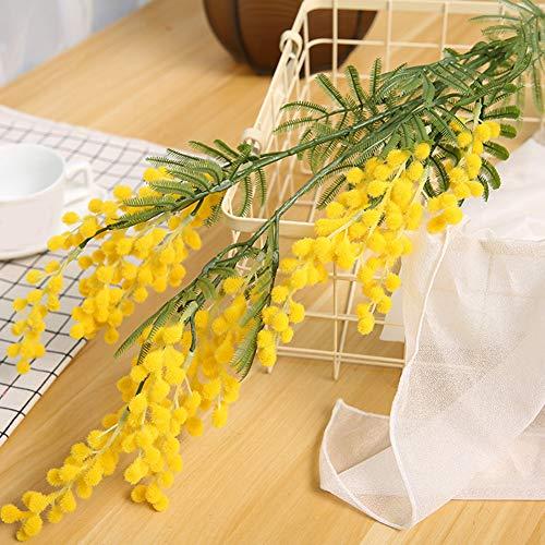 SYN Ramas de Flores Artificiales de Acacia duraderas, para Escritorio, Fiesta, romántico, decoración de Boda, hogar…