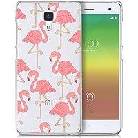Funda carcasa TPU Transparente para Xiaomi Mi4 diseño estampado flamencos rosa pink flamingo