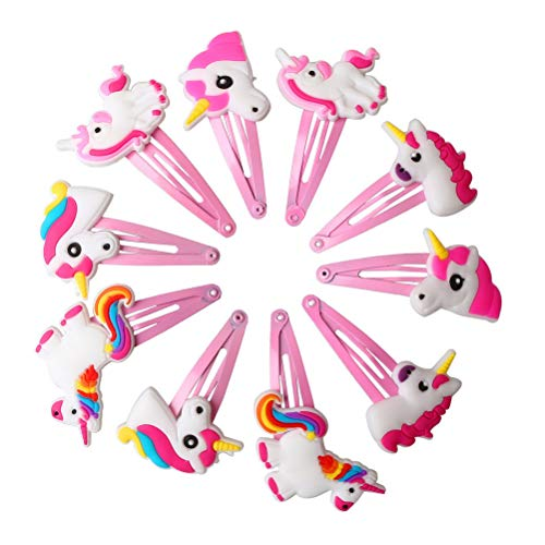 kuou 10 Pieces Unicorn Hair Clip...
