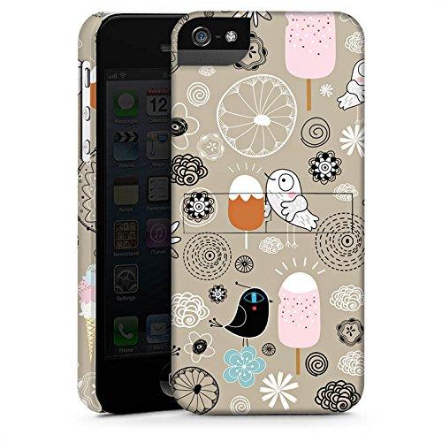 Apple iPhone 4 Housse Étui Silicone Coque Protection Les oiseaux aiment les glaces Glace Glace CasStandup blanc