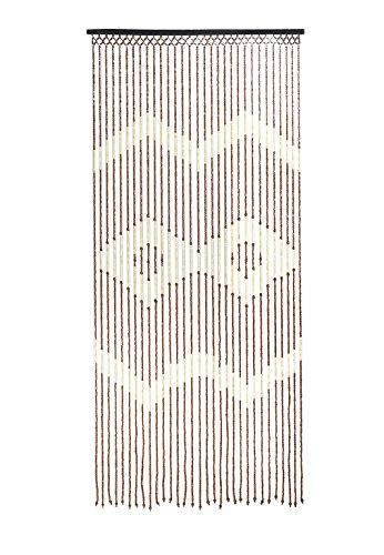 Kobolo Holzperlenvorhang Valencia 31 Stränge mit Zackenmuster 90x200