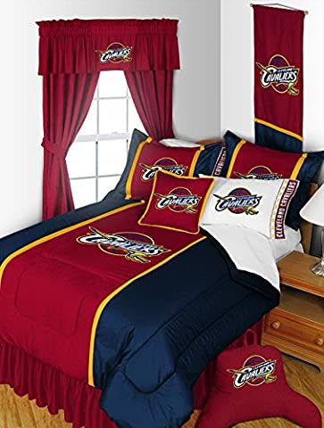 Cleveland Cavaliers 4 Pc QUEEN Comforter Set and One Matching