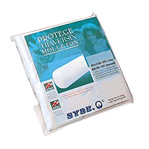 Housse de Protection de traversin absorbante Antonin - Blanc 160 cm