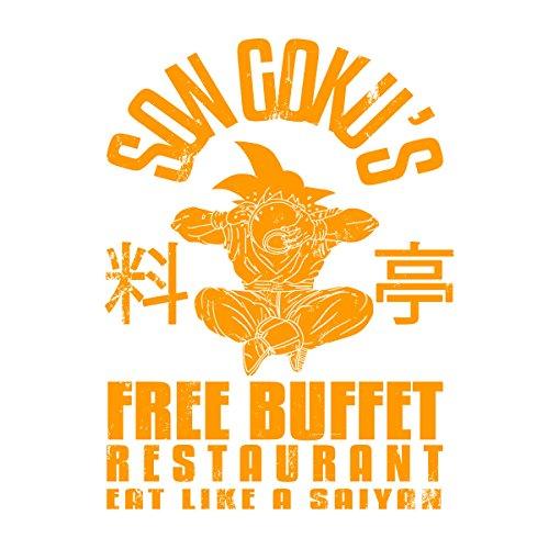Son Gokus Free Buffet Dragon Ball Z Men's Vest White