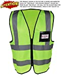 #9: TheCoolio VH-8TVV-7GBF High Visibility Fluorescent Yellow-Green Reflective Safety Vest, Medium
