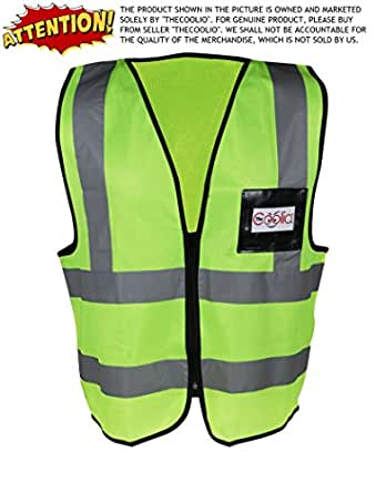 TheCoolio High Visibility Flouroscent Yellow-Green Reflective Safety Vest - Large