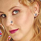 Amakando Magnet Nasenpiercing Brillant Ohrring 2er Set Steinchen Magnetpiercing Diamant Ohrschmuck Strass Nasenschmuck Piercing Mode Schmuck