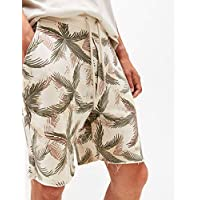 Bershka Beige Bermuda Short For Men