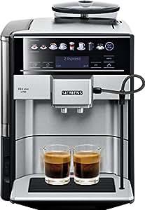 Siemens EQ.6 plus TE657503DE Kaffeevollautomat (1500 Watt, Integriertes Milchsystem, One Touch, Reinigungsprogramm, Doppeltassenbezug, 1,7 Liter) edelstahl