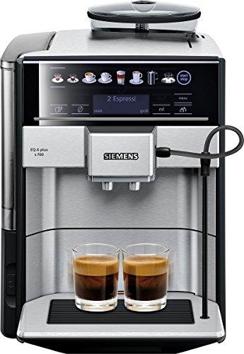 eq6 plus s700 Siemens EQ.6 Plus s700 TE657503DE Kaffeevollautomat (1500 Watt, Keramik-mahlwerk, Touch-Sensor-Direktwahltasten, personalisierte Getränke, Doppeltassenbezug) edelstahl