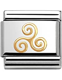 Nomination Mujer de Charm Composable Classic 18K de oro Celtic Acero Inoxidable teilvergoldet–030119/06