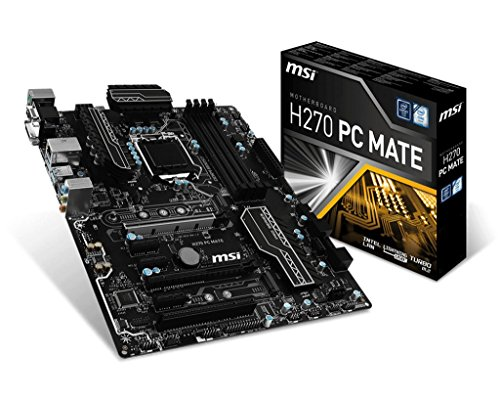 MSI H270 PC Mate Scheda Madre, Formato ATX, Chipset Kabylake, Nero