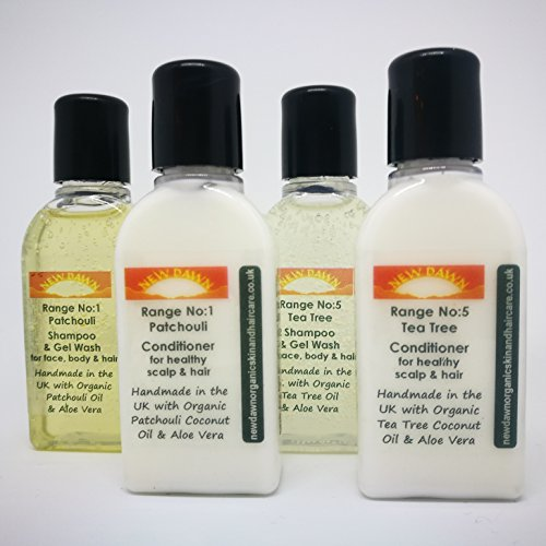 New Dawn Natural & Organic Acne of the Scalp - Soap / Shampoo & Conditioner - Sample Pack (Normal or Dry Scalp/Hair)