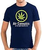Touchlines Herren T-Shirt Air Cannabis - We fly higher SLIMFIT, navy, M, SF143