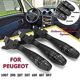 CFHMLK Auto Blinker Blinkerschalter Lenksäule Hupe Auto 96477533XT, für Peugeot 1007 206 207 307 406 407 807