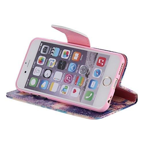 PU für Apple iPhone 6 (4.7 Zoll) Hülle,Farbe geprägt Geprägte Handyhülle / Tasche / Cover / Case für das Apple iPhone 6 (4.7 Zoll) PU Leder Flip Cover Leder Hülle Kunstleder Folio Schutzhülle Wallet T 10
