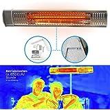 Estufa Lampara para Exterior; Calefactor Eléctrico Radiante por Rayos Infrarrojos para Jardines Terrazas y Zonas