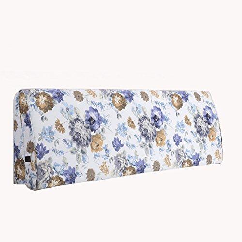 XUEYAN Bett Kissen Gebogene Stoff Massivholz Bett Soft Bag Große Rückenlehne Kissen Bettdecke...