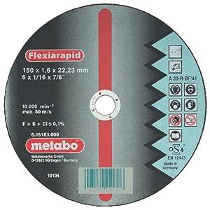 51KnnJJ UbL. SS300  - Metabo 616183000 616183000-Disco de tronzar para Amoladora Angular Flexiarapid A30-R-BF INOX Plano Ø 150 x 2,0 x 22,22 mm (Envase de 25 Ud)