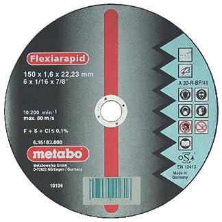 Metabo 616183000 616183000-Disco de tronzar para Amoladora Angular Flexiarapid A30-R-BF INOX Plano Ø 150 x 2,0 x 22,22 mm (Envase de 25 Ud)