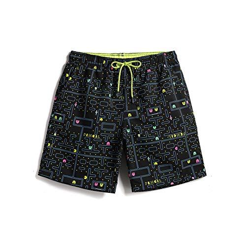 HIAO Sommer Shorts Männer Strand Polyesterfaser Sport Bequem Freizeit Urlaub Plaid Mehrfarbig Muster (größe : - Super Einfache Kostüm Männer