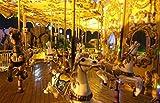 Hölzernes Karussell-klassische Spieluhr-Kinderkind-Mädchen-Weihnachtsgeburtstags-Hochzeits-Geschenk-Spielzeug-Ausgangsdekoration -