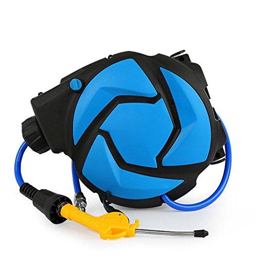 Preisvergleich Produktbild Schlauchaufroller Automatische Streckung Zusammengebauter Schlauch mit Rohr und Kupfer Schnellverbinder , blue , Pipe diameter 8*12mm