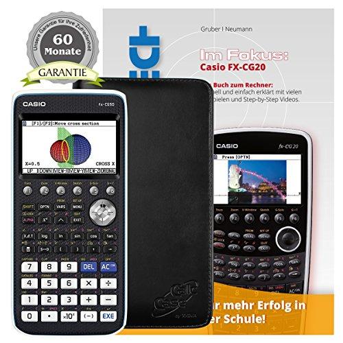 Casio FX-CG 50 + CalcCase GTR Schutztasche + Buch: Im Fokus II: FX-CG20 + Garantieverlängerung auf 60 Monate