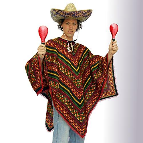 Mexikaner Kostüm - Poncho - Mexiko - Universalgrösse