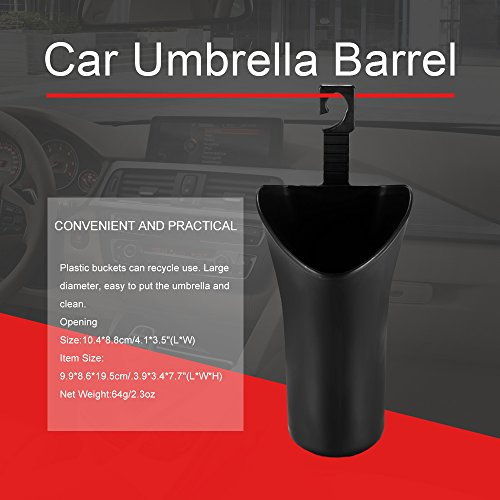 ONEVER Car Umbrella Barrel ABS est suspendu universel Bo?te de rangement Siššge arriššre porte latšŠrale Porte de dšŠbris multifonctions